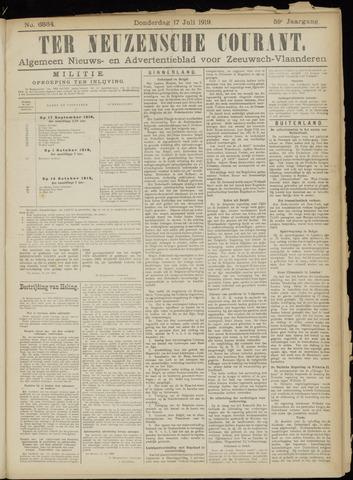 Ter Neuzensche Courant. Algemeen Nieuws- en Advertentieblad voor Zeeuwsch-Vlaanderen / Neuzensche Courant ... (idem) / (Algemeen) nieuws en advertentieblad voor Zeeuwsch-Vlaanderen 1919-07-17