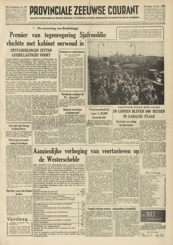 Provinciale Zeeuwse Courant 1958-05-06