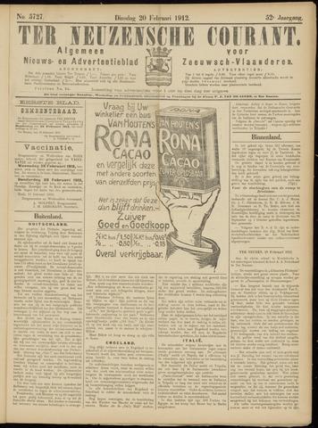 Ter Neuzensche Courant. Algemeen Nieuws- en Advertentieblad voor Zeeuwsch-Vlaanderen / Neuzensche Courant ... (idem) / (Algemeen) nieuws en advertentieblad voor Zeeuwsch-Vlaanderen 1912-02-20