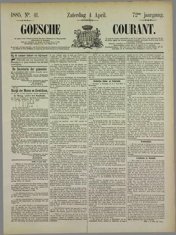 Goessche Courant 1885-04-04