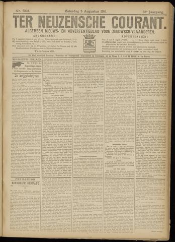 Ter Neuzensche Courant. Algemeen Nieuws- en Advertentieblad voor Zeeuwsch-Vlaanderen / Neuzensche Courant ... (idem) / (Algemeen) nieuws en advertentieblad voor Zeeuwsch-Vlaanderen 1916-08-05