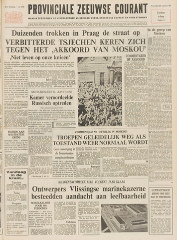 Provinciale Zeeuwse Courant 1968-08-28