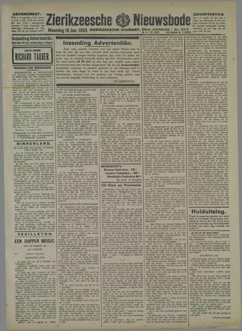 Zierikzeesche Nieuwsbode 1933-01-16