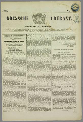 Goessche Courant 1851-12-25