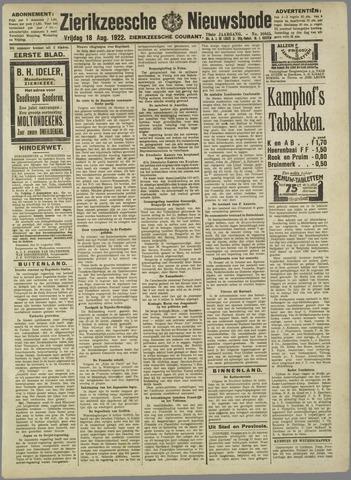 Zierikzeesche Nieuwsbode 1922-08-18