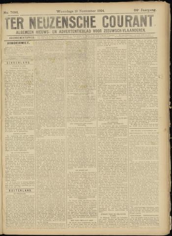 Ter Neuzensche Courant. Algemeen Nieuws- en Advertentieblad voor Zeeuwsch-Vlaanderen / Neuzensche Courant ... (idem) / (Algemeen) nieuws en advertentieblad voor Zeeuwsch-Vlaanderen 1924-11-19