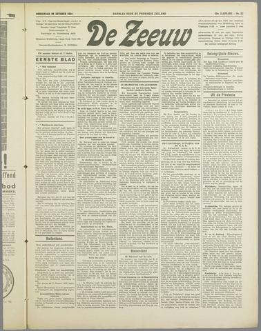De Zeeuw. Christelijk-historisch nieuwsblad voor Zeeland 1934-10-25