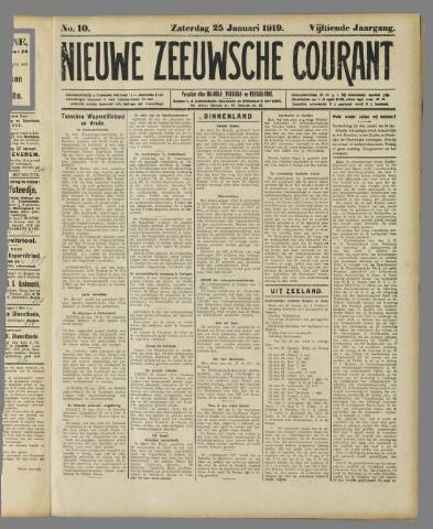 Nieuwe Zeeuwsche Courant 1919-01-25
