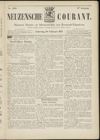 Ter Neuzensche Courant. Algemeen Nieuws- en Advertentieblad voor Zeeuwsch-Vlaanderen / Neuzensche Courant ... (idem) / (Algemeen) nieuws en advertentieblad voor Zeeuwsch-Vlaanderen 1877-02-24