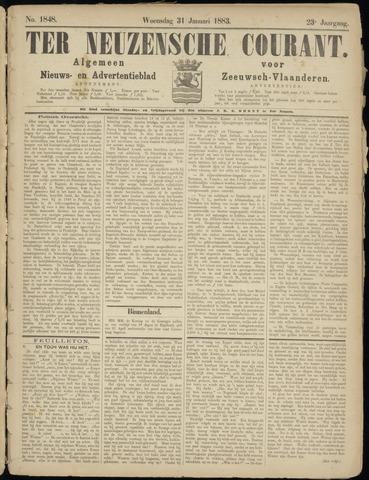 Ter Neuzensche Courant. Algemeen Nieuws- en Advertentieblad voor Zeeuwsch-Vlaanderen / Neuzensche Courant ... (idem) / (Algemeen) nieuws en advertentieblad voor Zeeuwsch-Vlaanderen 1883-01-31