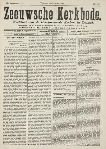 Zeeuwsche kerkbode, weekblad gewijd aan de belangen der gereformeerde kerken/ Zeeuwsch kerkblad 1920-10-15