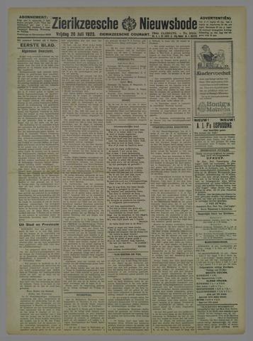 Zierikzeesche Nieuwsbode 1923-07-20