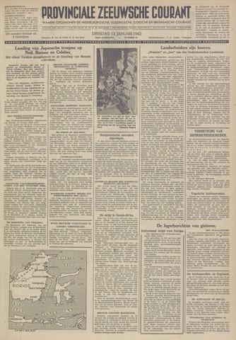 Provinciale Zeeuwse Courant 1942-01-13