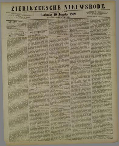 Zierikzeesche Nieuwsbode 1889-08-29