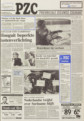 Provinciale Zeeuwse Courant 1987-03-12