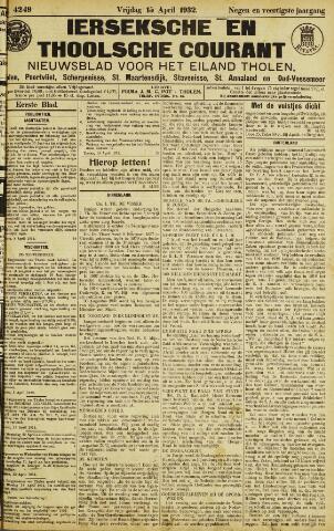 Ierseksche en Thoolsche Courant 1932-04-15