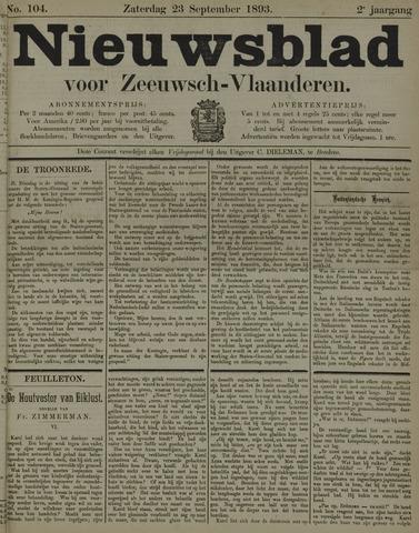 Nieuwsblad voor Zeeuwsch-Vlaanderen 1893-09-23