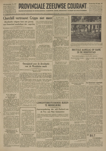 Provinciale Zeeuwse Courant 1949-09-29