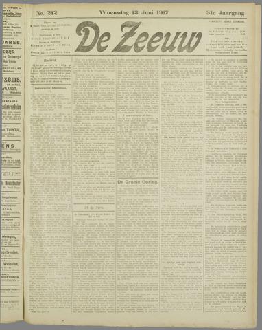 De Zeeuw. Christelijk-historisch nieuwsblad voor Zeeland 1917-06-13