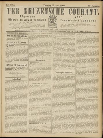 Ter Neuzensche Courant. Algemeen Nieuws- en Advertentieblad voor Zeeuwsch-Vlaanderen / Neuzensche Courant ... (idem) / (Algemeen) nieuws en advertentieblad voor Zeeuwsch-Vlaanderen 1908-06-27