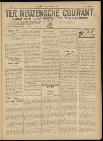 Ter Neuzensche Courant. Algemeen Nieuws- en Advertentieblad voor Zeeuwsch-Vlaanderen / Neuzensche Courant ... (idem) / (Algemeen) nieuws en advertentieblad voor Zeeuwsch-Vlaanderen 1932-02-19