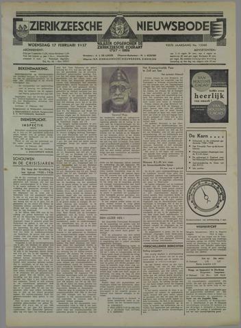Zierikzeesche Nieuwsbode 1937-02-17