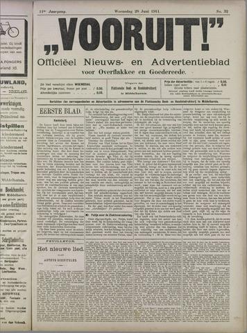 """""""Vooruit!""""Officieel Nieuws- en Advertentieblad voor Overflakkee en Goedereede 1911-06-28"""