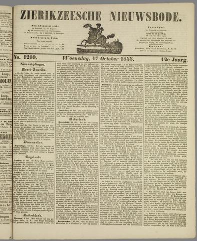 Zierikzeesche Nieuwsbode 1855-10-17