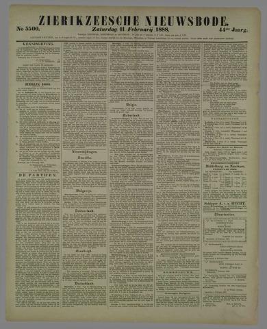 Zierikzeesche Nieuwsbode 1888-02-11