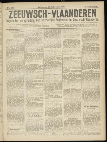 Luctor et Emergo. Antirevolutionair nieuws- en advertentieblad voor Zeeland / Zeeuwsch-Vlaanderen. Orgaan ter verspreiding van de christelijke beginselen in Zeeuwsch-Vlaanderen 1920-02-28