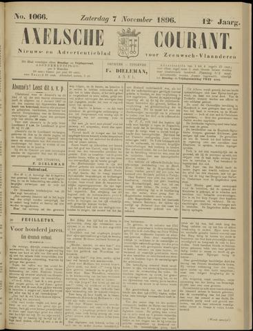 Axelsche Courant 1896-11-07