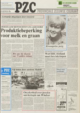 Provinciale Zeeuwse Courant 1986-04-26