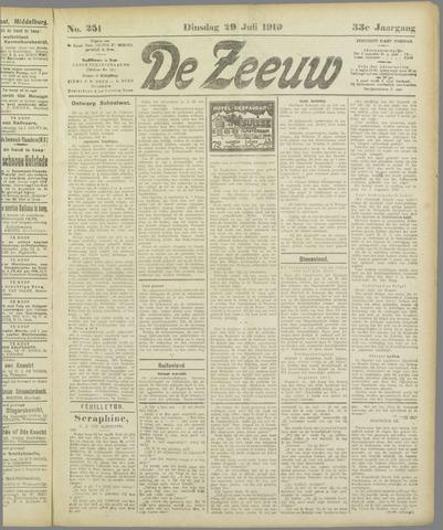 De Zeeuw. Christelijk-historisch nieuwsblad voor Zeeland 1919-07-29