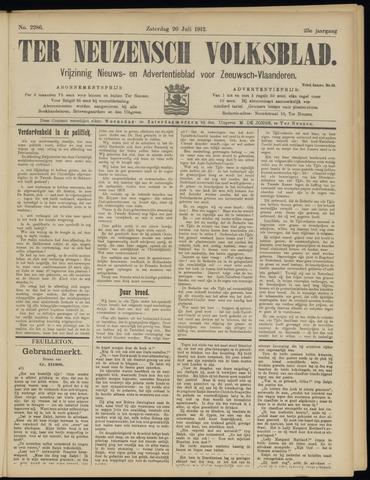 Ter Neuzensch Volksblad. Vrijzinnig nieuws- en advertentieblad voor Zeeuwsch- Vlaanderen / Zeeuwsch Nieuwsblad. Nieuws- en advertentieblad voor Zeeland 1912-07-20