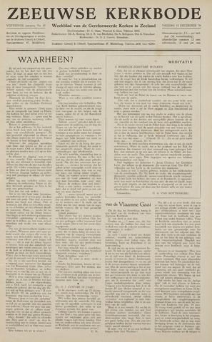 Zeeuwsche kerkbode, weekblad gewijd aan de belangen der gereformeerde kerken/ Zeeuwsch kerkblad 1959-12-18