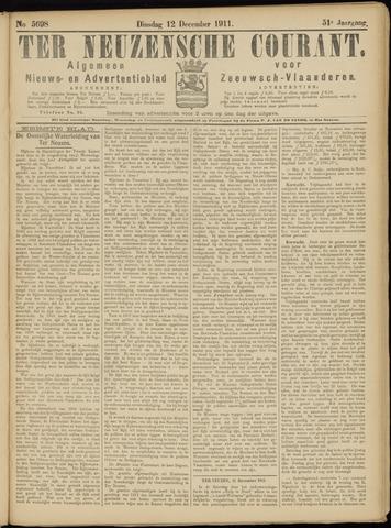 Ter Neuzensche Courant. Algemeen Nieuws- en Advertentieblad voor Zeeuwsch-Vlaanderen / Neuzensche Courant ... (idem) / (Algemeen) nieuws en advertentieblad voor Zeeuwsch-Vlaanderen 1911-12-12