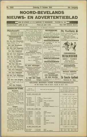 Noord-Bevelands Nieuws- en advertentieblad 1941-10-11