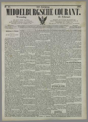 Middelburgsche Courant 1891-02-25