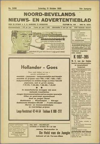 Noord-Bevelands Nieuws- en advertentieblad 1950-10-21