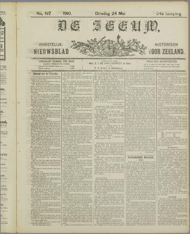 De Zeeuw. Christelijk-historisch nieuwsblad voor Zeeland 1910-05-24