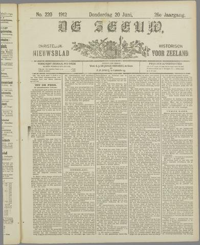 De Zeeuw. Christelijk-historisch nieuwsblad voor Zeeland 1912-06-20