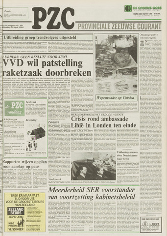 Provinciale Zeeuwse Courant 1984-04-28
