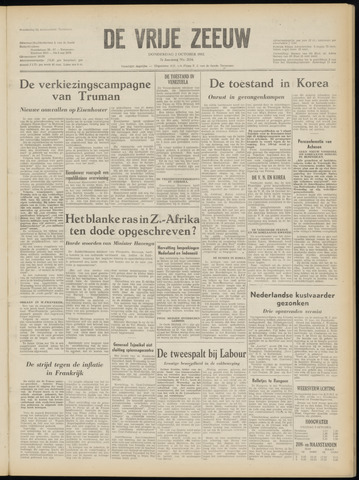 de Vrije Zeeuw 1952-10-02