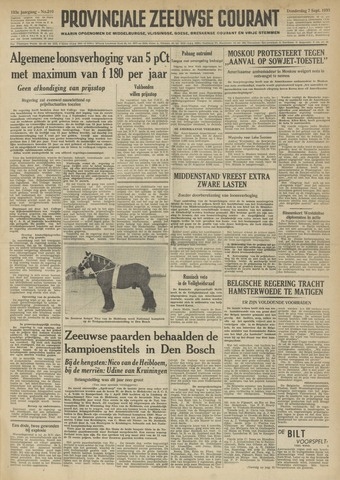 Provinciale Zeeuwse Courant 1950-09-07
