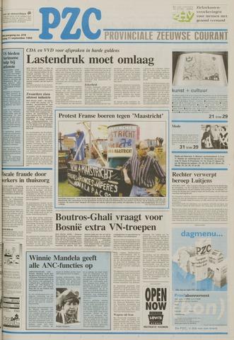 Provinciale Zeeuwse Courant 1992-09-11