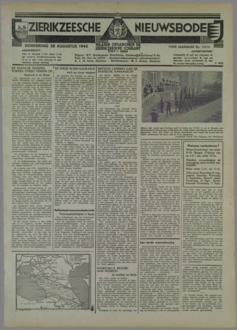 Zierikzeesche Nieuwsbode 1942-08-20