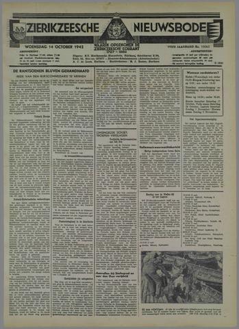 Zierikzeesche Nieuwsbode 1942-10-14
