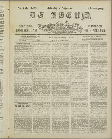 De Zeeuw. Christelijk-historisch nieuwsblad voor Zeeland 1910-08-06
