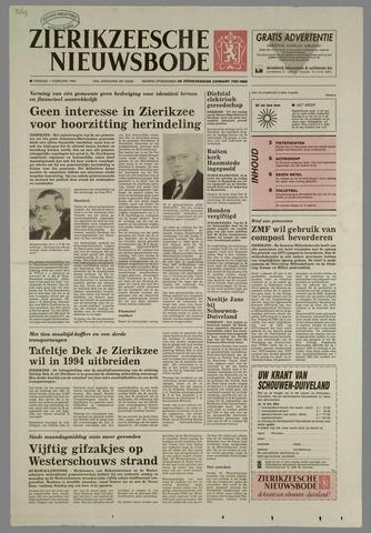 Zierikzeesche Nieuwsbode 1994-02-01