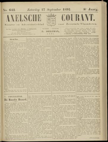 Axelsche Courant 1892-09-17